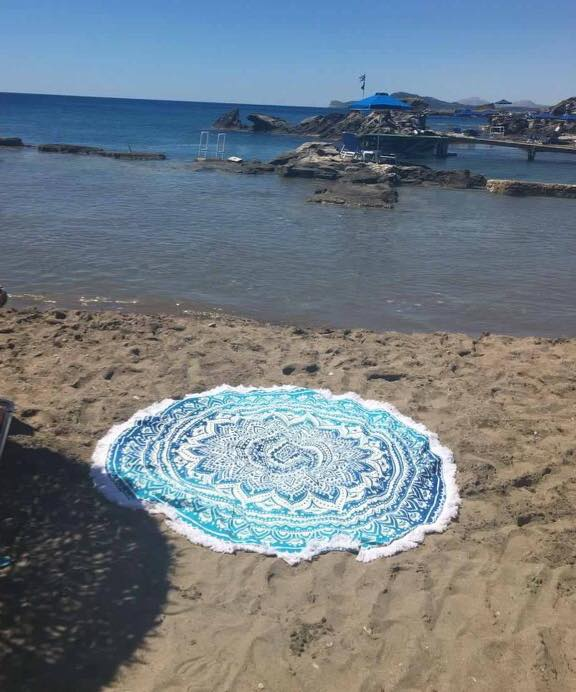 Blue Ombre Beach roundie