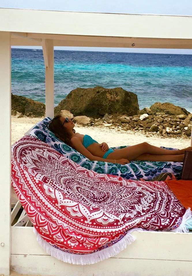 Fenna vakantie roundies Ocean & Pink Ombre