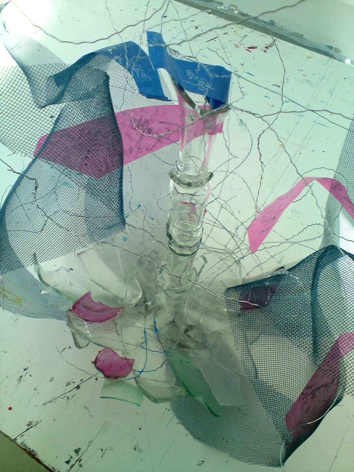 ohne Titel, Materialmix, 2010