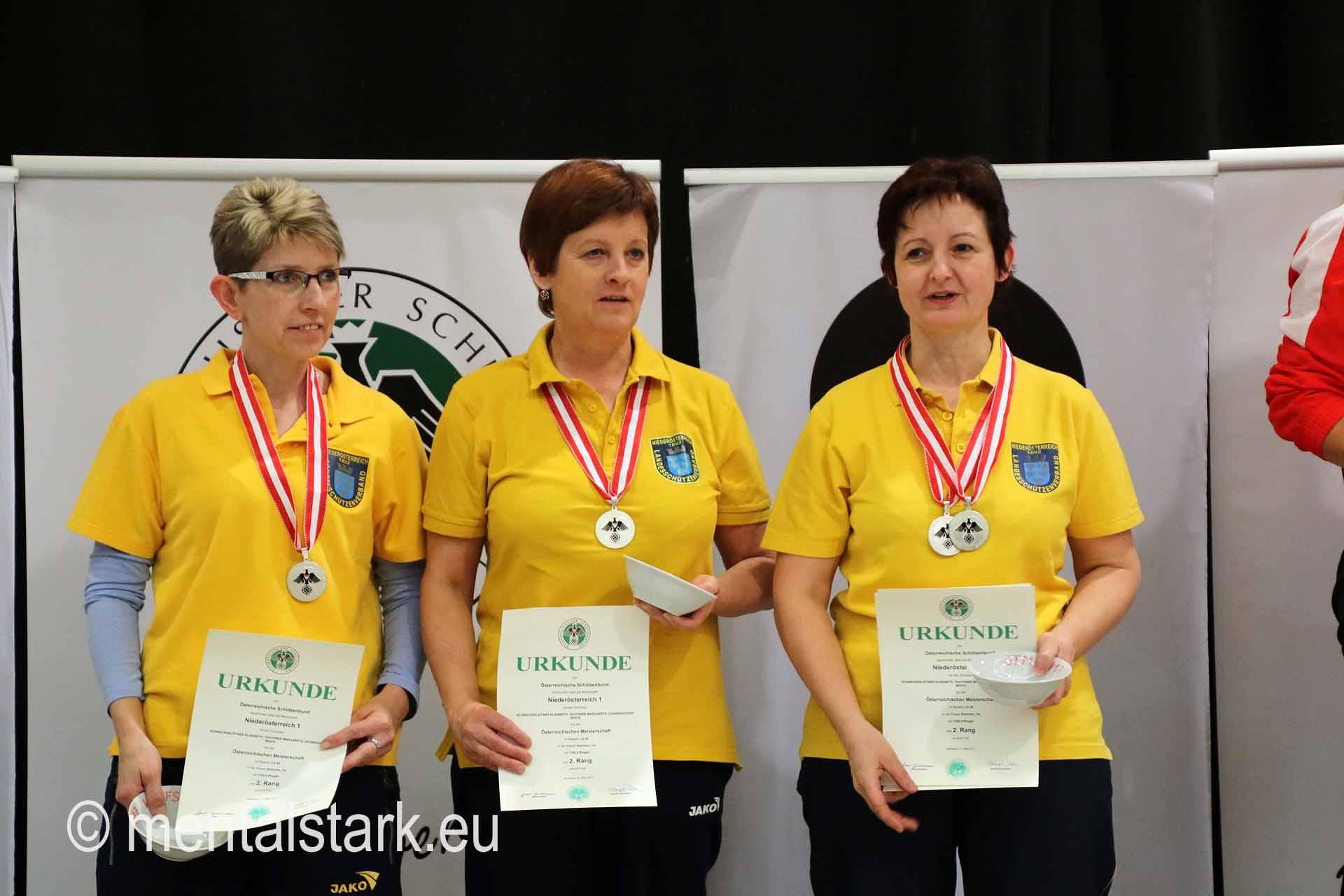 Elisabeth Schneckenleitner, Mannschaft NÖ 1. Platz LG Seniorinnen1