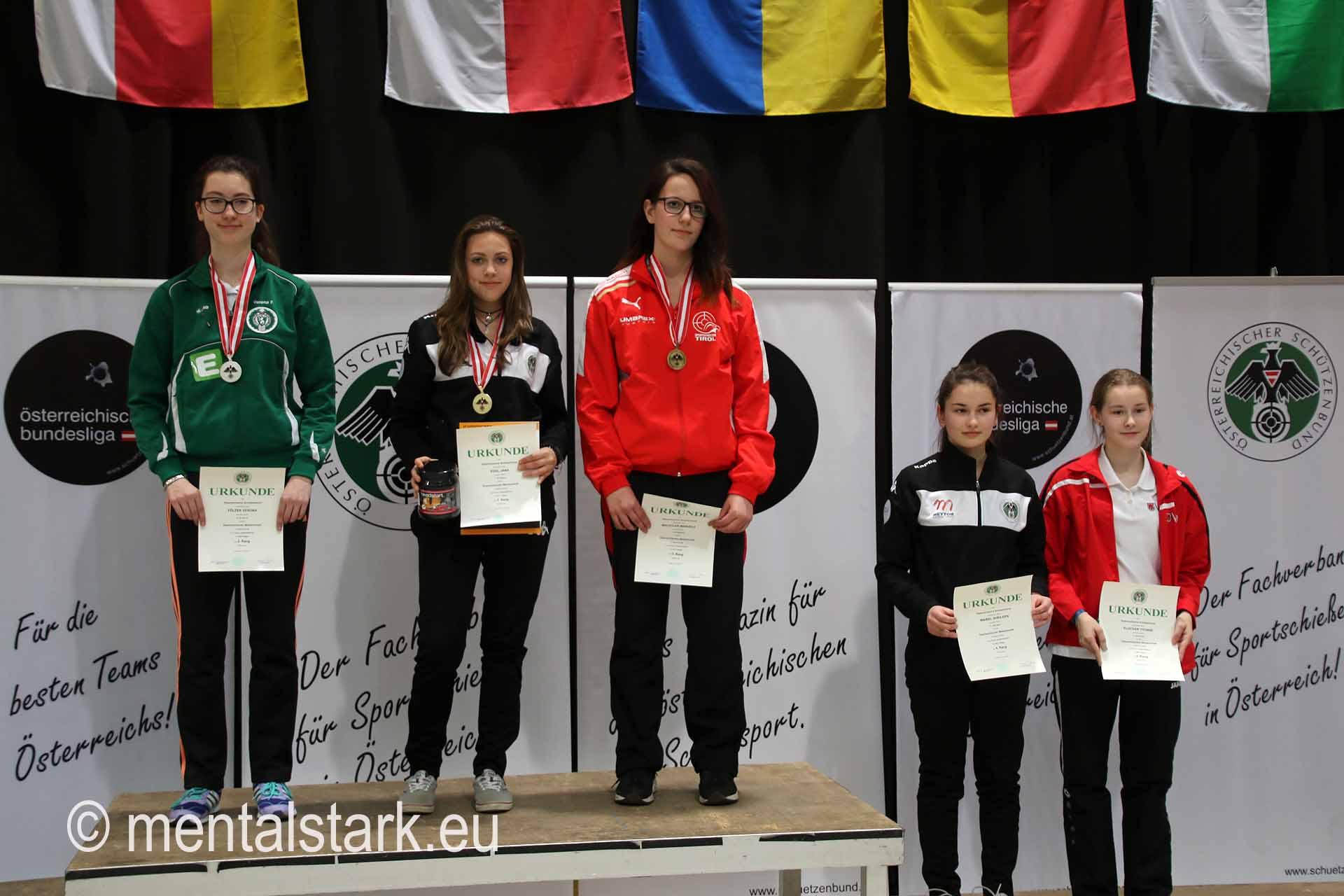 2. Platz LG Jungschützinnen Verona Fölzer