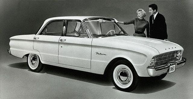 Der Kompaktwagen Ford Falcon war die Basis für den Mustang (Bild: Ford)