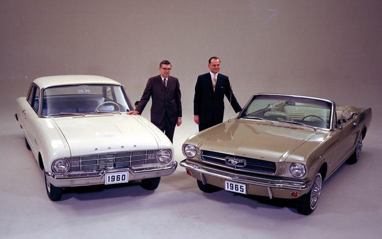 Viele Bauteile und Konstruktionen wurden vom seit 1960 erhältlichen Falcon übernommen. (Bild: Ford)
