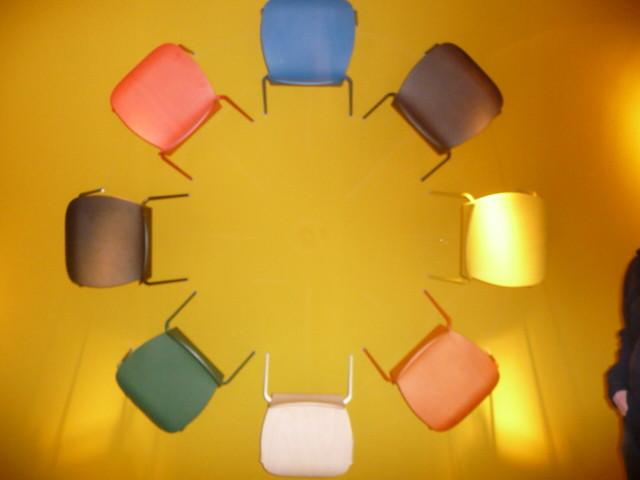 CAPPELLINI | Wandgemälde mit Stühlen