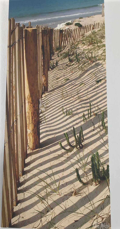 """""""Ganivelles"""", Odile Motelet  Photographie. Tirage original d'un cliché sur aliminium dibond Format 35 x 80 cm Prix : 115€"""