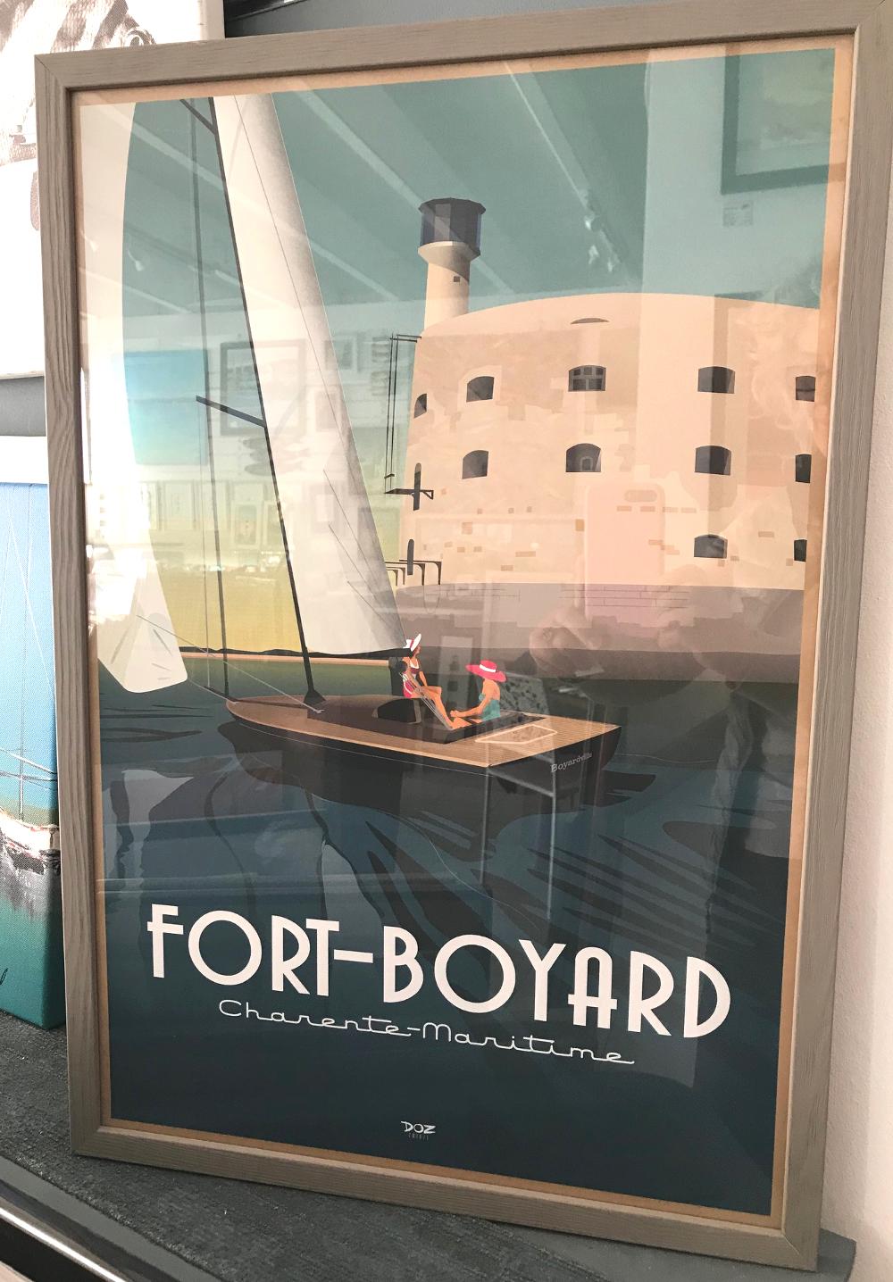 """""""Fort Boyard"""", Doz Affiche encadrée, dimensions extérieures : 42 x 62 cm Prix de l'affiche : 35€ Prix du cadre gael 20 gris : 30,50€ L'ensemble : 65,50€"""