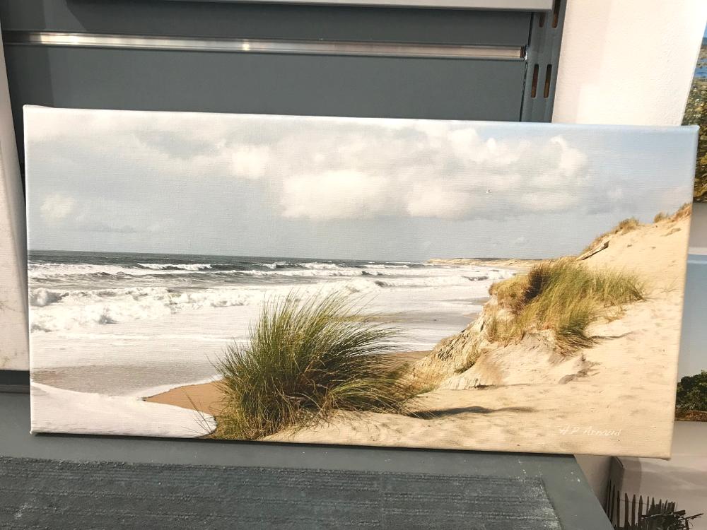 « Vent du large », d'Henri Paul ARNAUD Photographie imprimée par l'auteur, sur une toile tendue sur châssis Dimensions 50 x 100 cm Prix de la toile : 160€
