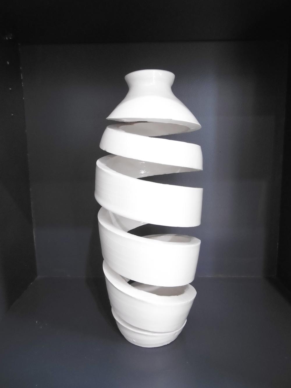 "Nardo Colet  ""Spirale Spaciale 27""  céramique émaillée 27 cm Galerie du 1er Oléron"