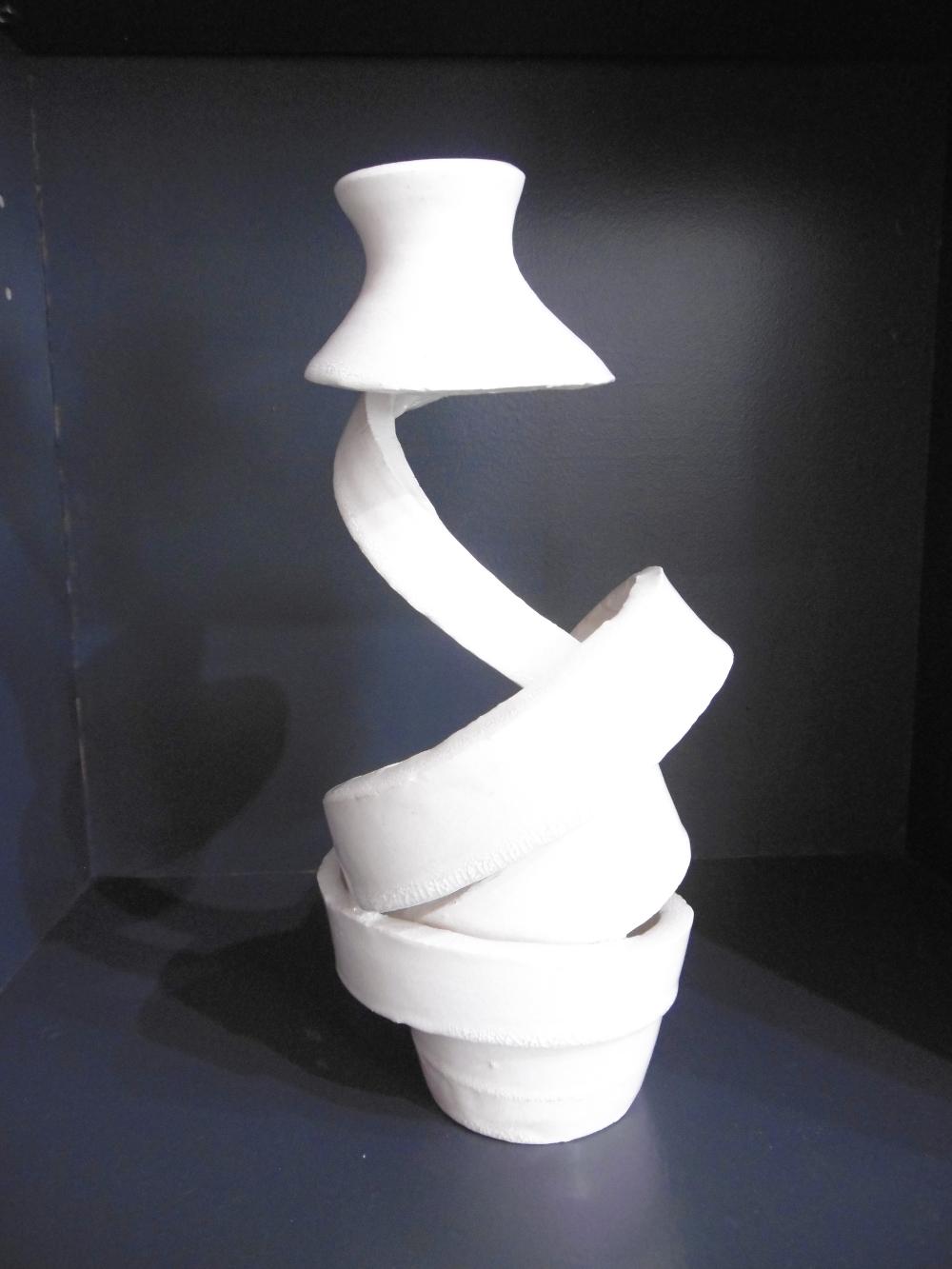"Nardo Colet  ""Spirale Spaciale 26""  céramique émaillée  26cm Galerie du 1er Oléron"