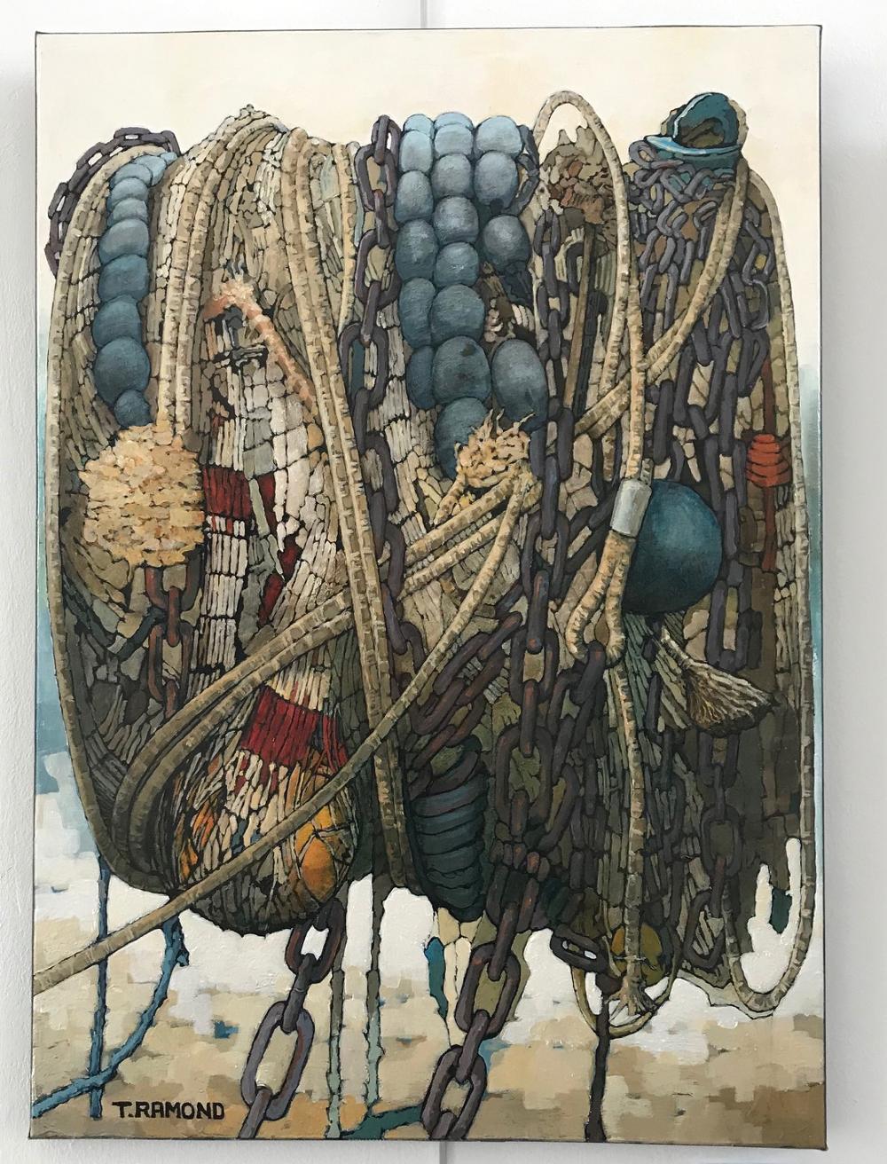 """""""CORDAGES"""", de Thierry Ramon Peinture à l'huile originale sur toile. Format 15M : 46 x 65 cm Prix de la toile : 850€ (vendue avec facture et certificat d'authenticité)"""