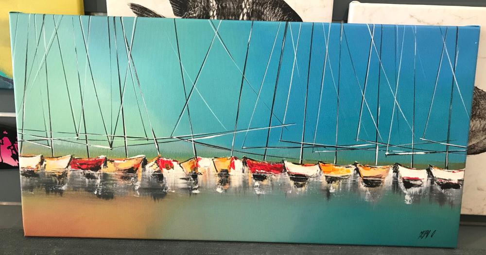 """""""SÉRÉNITÉ"""", d'Olivier Messas Reproduction d'une peinture imprimée sur toile et tendue sur châssis. Dimensions : 40 x 80 cm Prix : 145€"""