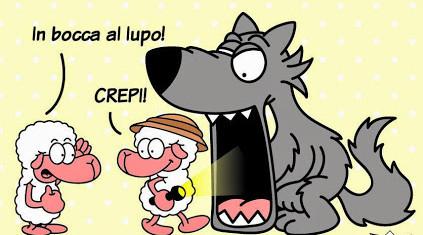 Resultado de imagen de in bocca al lupo