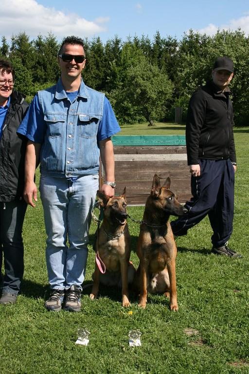 Udo mit dem Geschwisterpärchen Asta und Addi