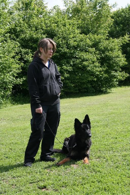 Steffi mit Dummyhund Delva