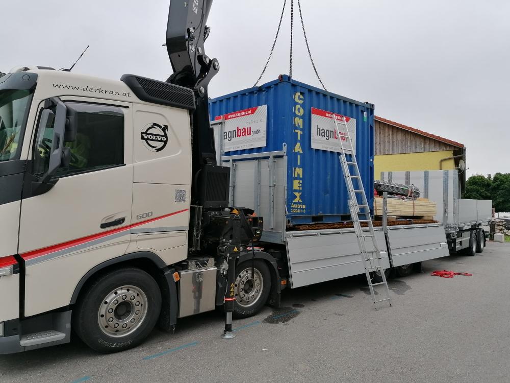 WAB LKW mit Kran, Container Transport