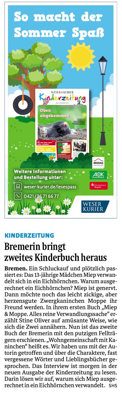 Weser-Kurier/Kurier am Sonntag (06.09.2020)