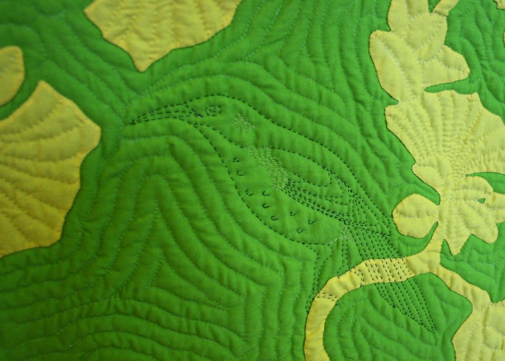 E O ka Liko-- detail of `o`o bird