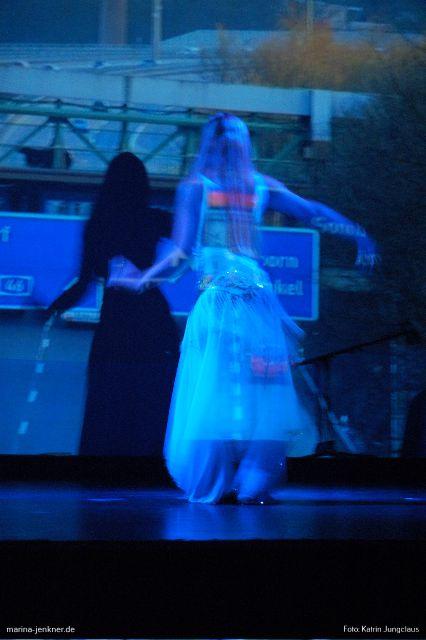 Projektionstanz von Beate Slowik (Rex-Theater 27.10.2006).