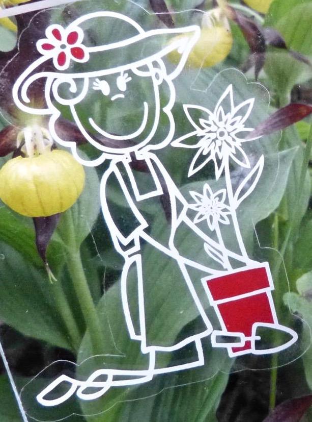 So sehen unsere Sticker aus (Gärtnerin 🌻)