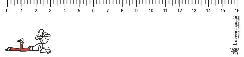 Lineal-Massstab-biegbar-Maedchen-Frau-Lesen
