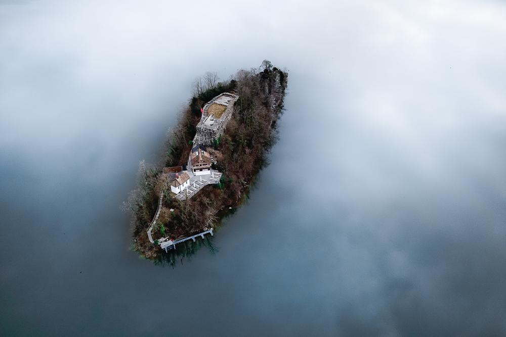Drohnenaufnahme Insel Schwanau