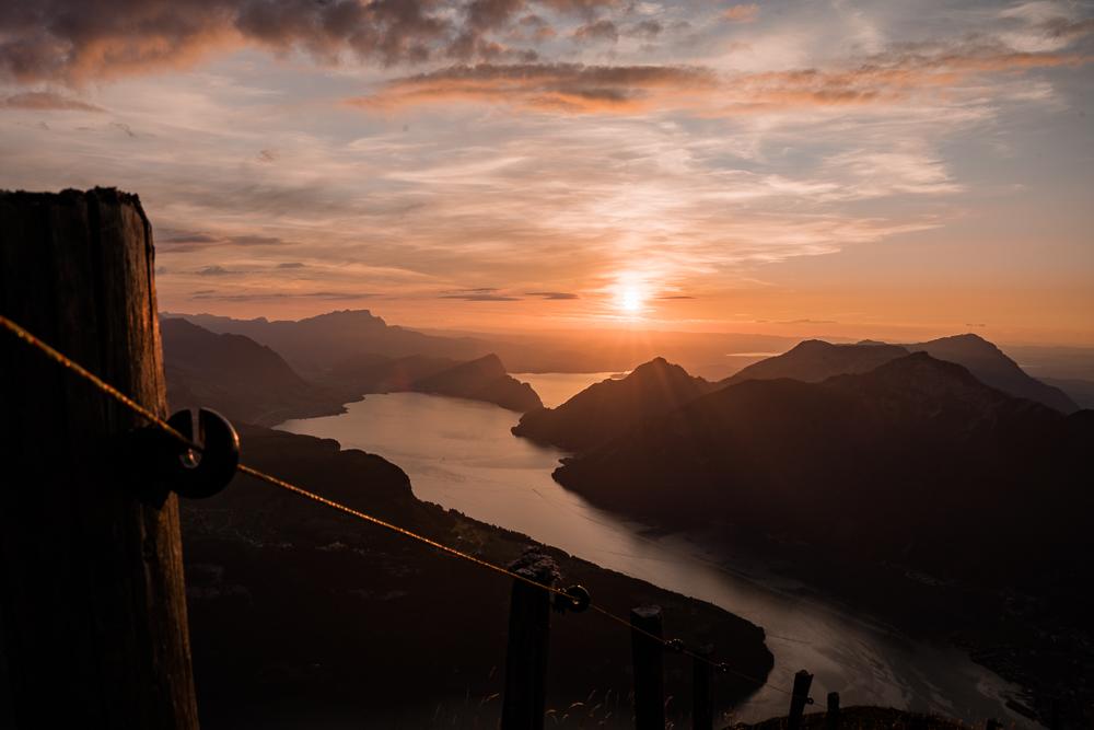 Sonnenuntergang Stoss Vierwaldstättersee Rigi