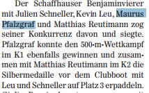 Artikel aus den Schaffhauser Nachrichten 2011