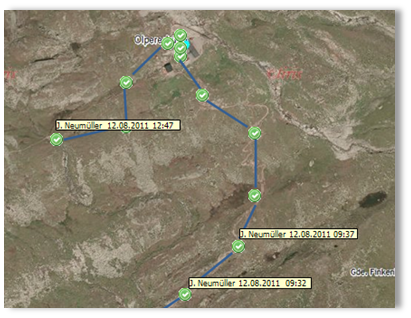 Wegstrecke Bergtour
