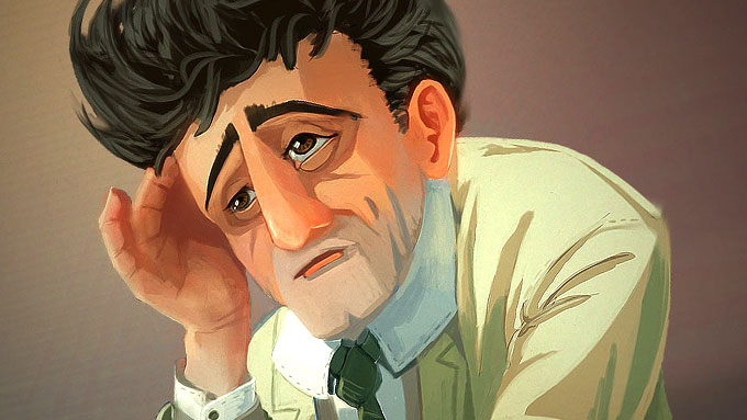 <b>ILLUSTRATION</b> <i>' Columbo '</i> painting
