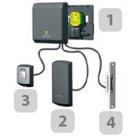 Zutrittssstem Zutrittskontrolle Paxton Access Compact Switch2 Net2 Keylock RFID Tastaturleser Mifare Reader Transponder schematische Darstellung