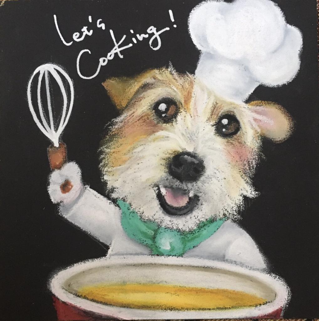 《チョークアートぷちレッスン》のご案内【ALOHA塾】  犬のしつけ教室@アロハドギー
