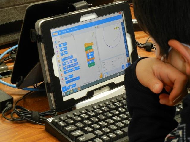 公開授業:条件をクリアして正多角形づくりに取り組む