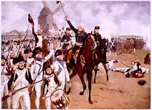 infanterie française accompagnée du général Kellerman à la bataille de Valmy