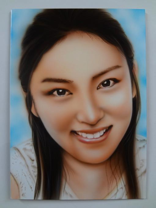 人物画,武井咲,カスタムペイント