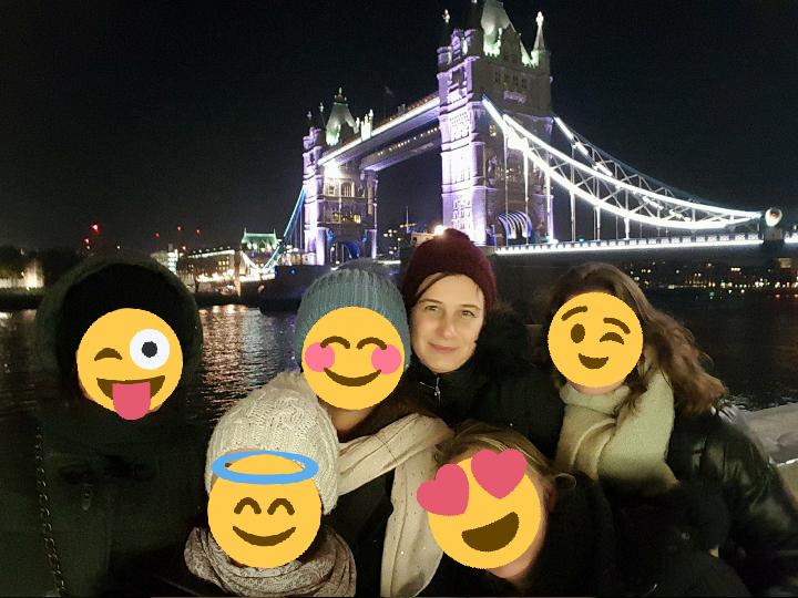 Oui je suis partie à Londres qu'avec des smiley.... :)