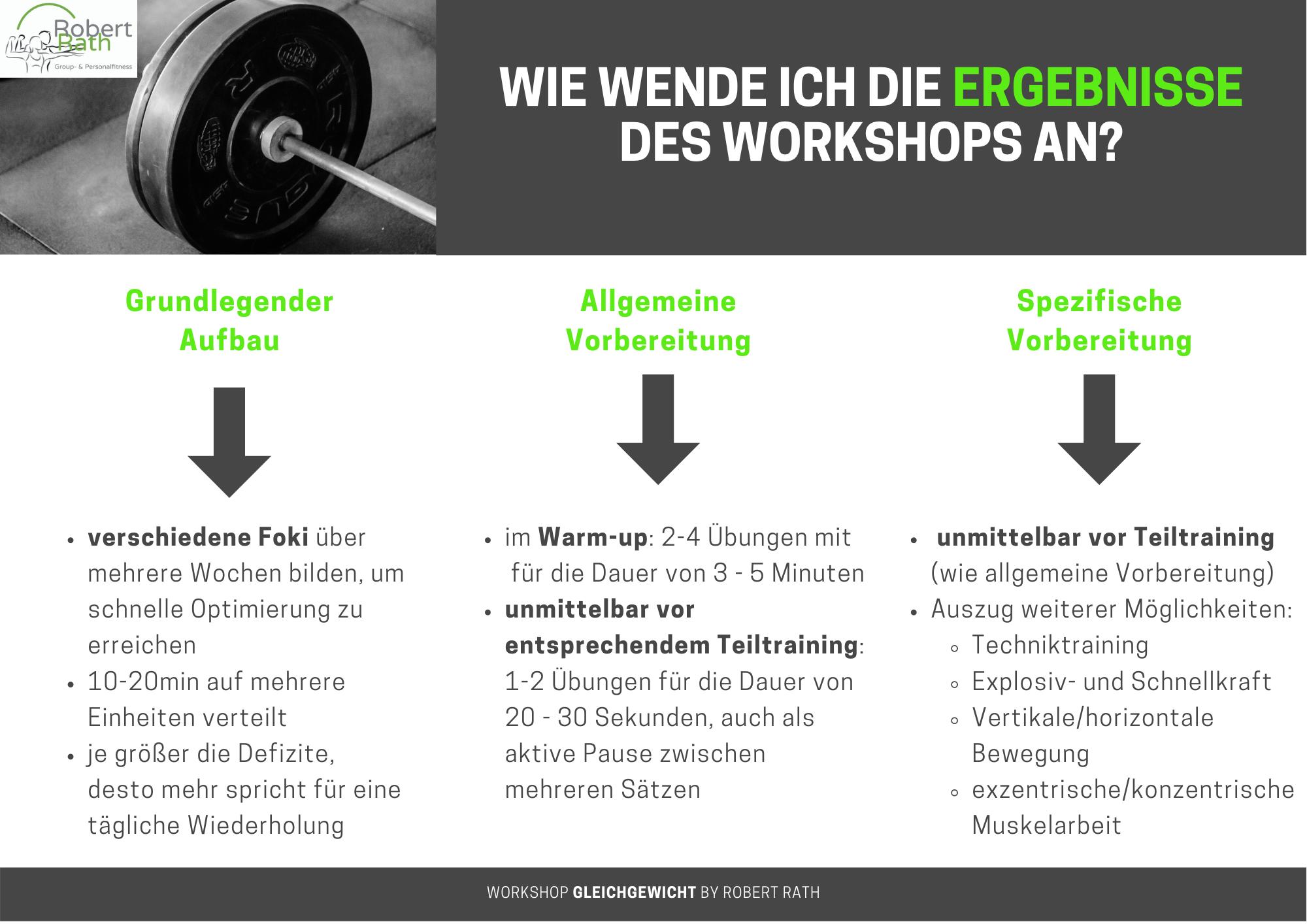 Robert Rath Workshop Gleichgewicht Gleichgewichtsreflexe zervikozerfikal vestibulozerfikal vestibulospinal Personal Training