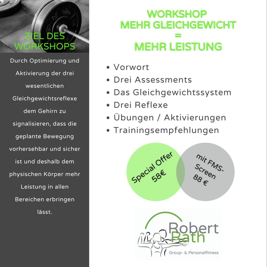 """Workshop """"Mehr Gleichgewicht = mehr Leistung"""""""
