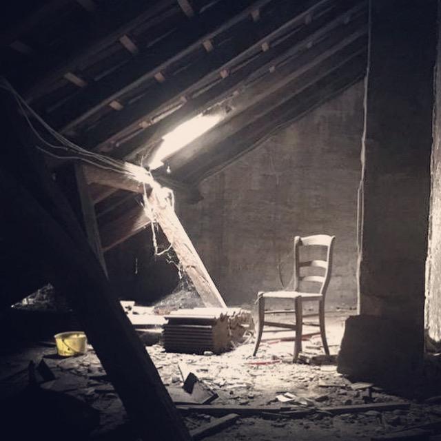 Verlassener Dachstuhl, Speyer, Juli 2021