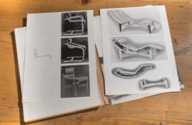 """Charlotte Perriand & Junzo Sakakura Katalog """"Choix, tradition, création au contact de 'art japonais"""". Foto: Artcurial, Paris"""