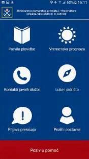 kroatische Ministerium für Meeresangelegenheiten, Transport und Infrastruktur Sicherheit auf See  kostenlose App Notruf Positionsübermittlung Wetterberichte Tankstellen Hafenämter