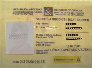 kroatische küstenpatente küstenpatent boat skipper a