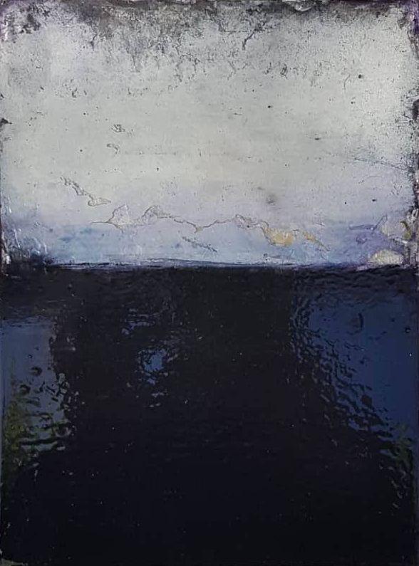 Mikko Paakkola,  mixed media on panel, 20x30 cm
