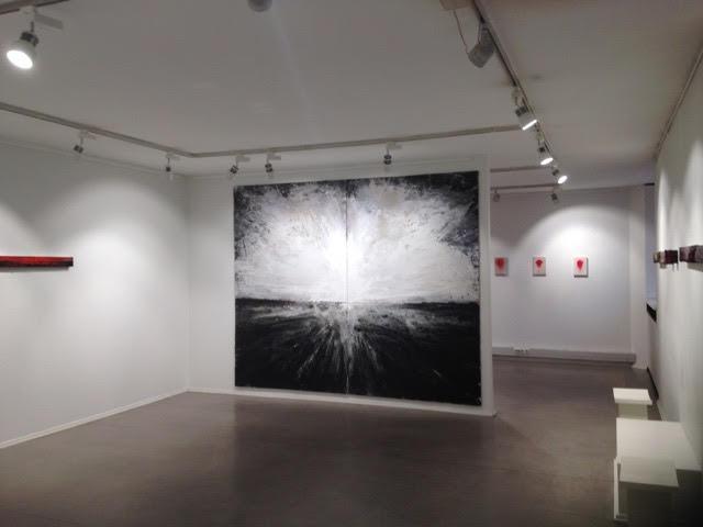 Mikko Paakkola,  mixed media on glass, 240x300 cm