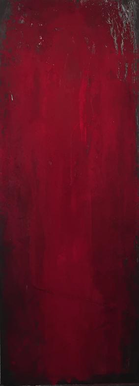 Acrylic, oil and pigments on board, 160 x 60 cm