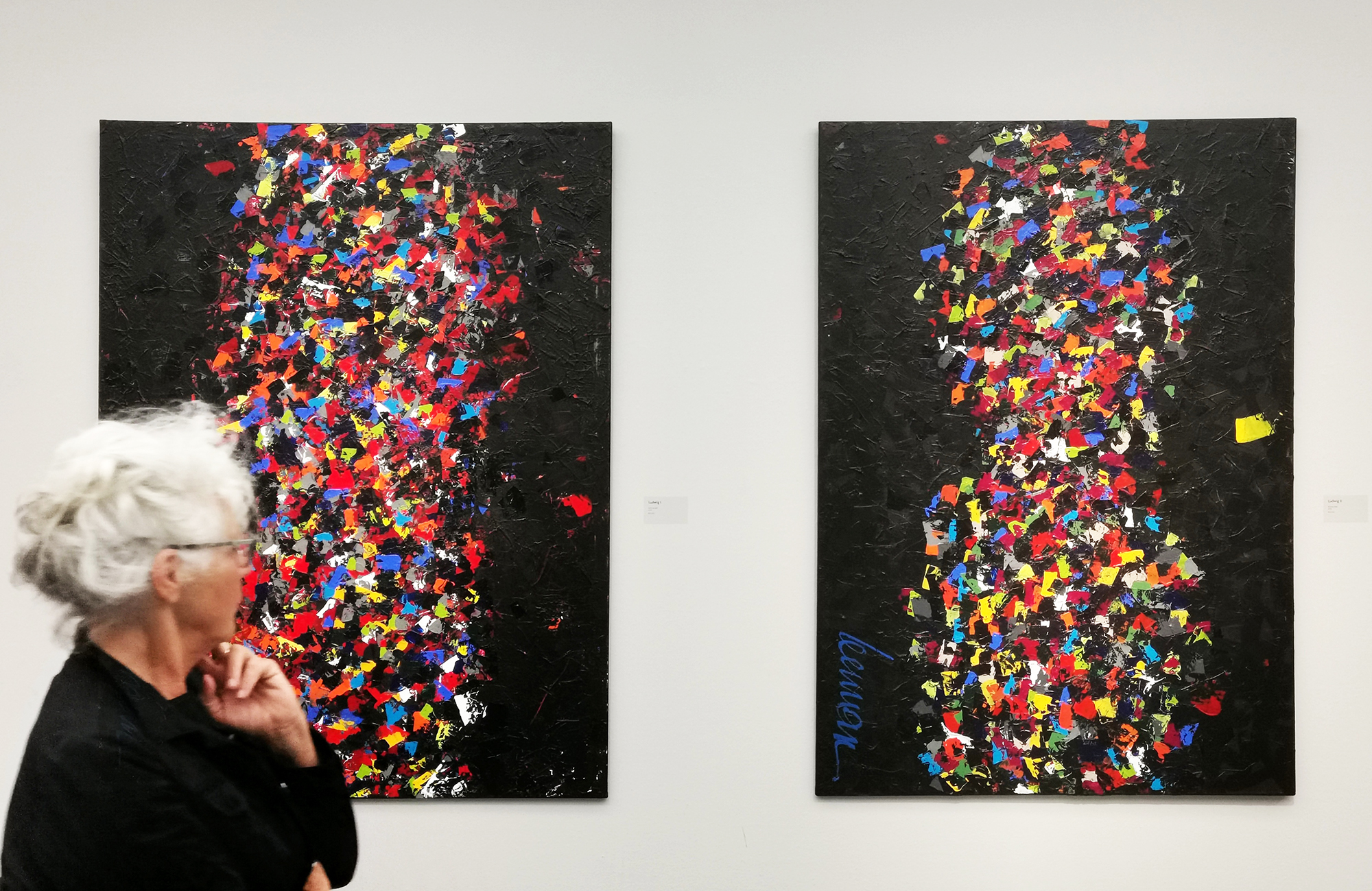 Left: Ludwig I (SOLD). Right: Ludwig II, 150x200 cm