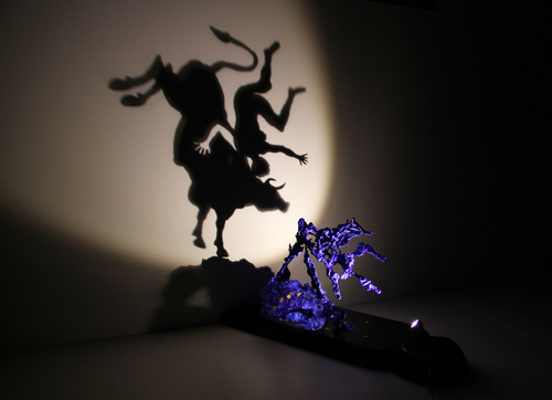 Europe. Shadow sculpture.