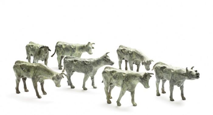 Willemien Fransen Brons / Bronze Koeien / Cows 20 x 11  cm (series of 5 pieces)