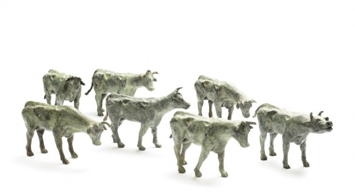 Willemien Fransen Brons / Bronze Koeien / Cows 20 x 11  cm (series of 5 pieces)