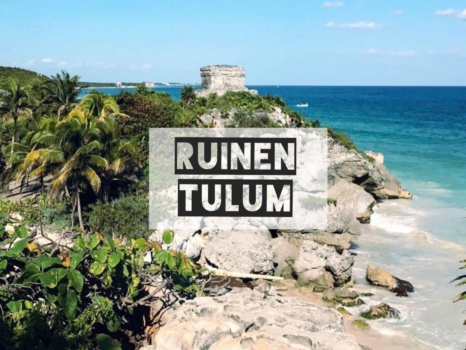 Ruinen Tulum  und Playa Paraiso - antike Maya-Stätte und Traumstrand