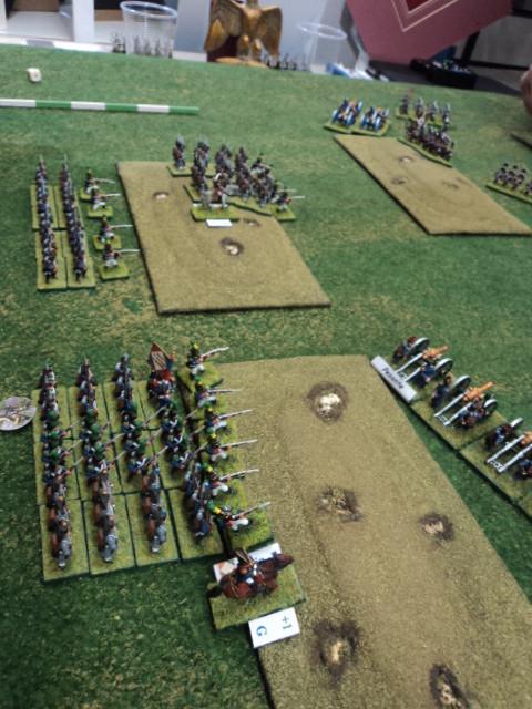 L'ala sinistra francese, al comando di Fausto, è incaricata di difendere la zona delle colline